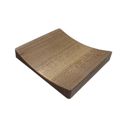 Bouton de porte carré concave 65X65 mm façon hêtre