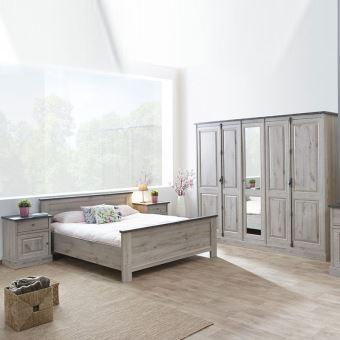 Chambre adulte contemporaine GALA - L 140 x P 200 x H 70 cm