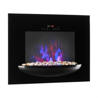 80 sur klarstein chemin e murale lectrique avec simulation de flammes 1800w thermostat. Black Bedroom Furniture Sets. Home Design Ideas