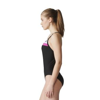 24bd70c29f83 Adidas - Maillot de bain femme adidas Colorblock - 42 - noir blanc rose  flash - Hauts