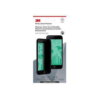 """Film de protection confidentiel 3M pour Apple iPhone 6 Plus/6S Plus/7 Plus - Filtre de confidentialité pour écran (portrait) - 5.5"""" - noir - pour Apple iPhone 6 Plus, 6s Plus, 7 Plus"""