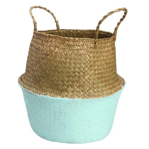 Seagrass Plant Pot Belly Storage Basket Shopping Bag Box 34 * 30cm