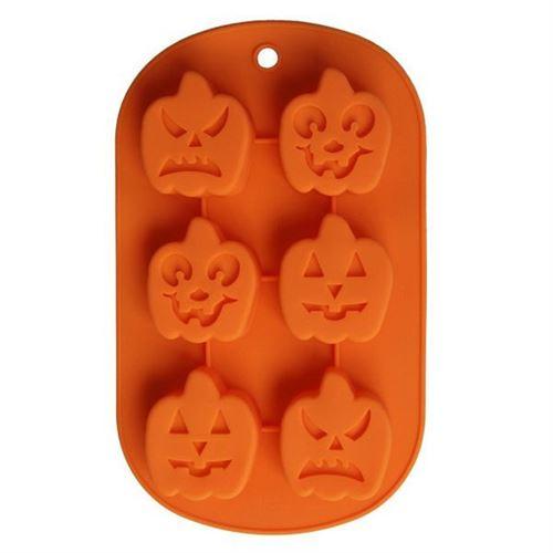 Plaque Moule Silicone Citrouille Multiples Glaçon Chocolat Pâtisserie Halloween - YONIS