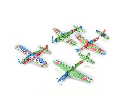 12X / Set Mousse Planeur Prop Volants Planeurs Avion Avion Enfants Enfants Bricolage Jouet-PN