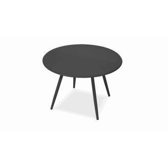 Table basse de jardin ronde Diamètre 40 cm, Palavas - Gris ...