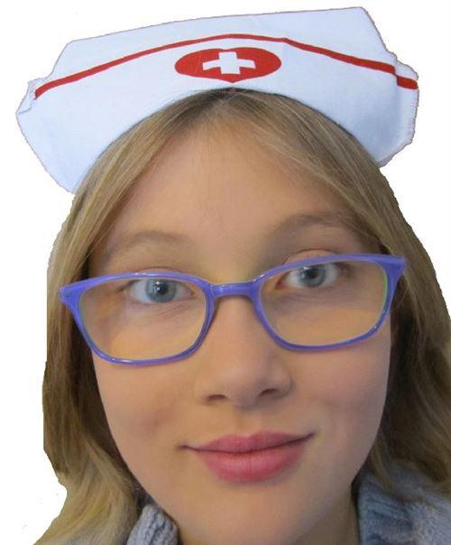 Coiffe infirmière 2/8 ans tissu