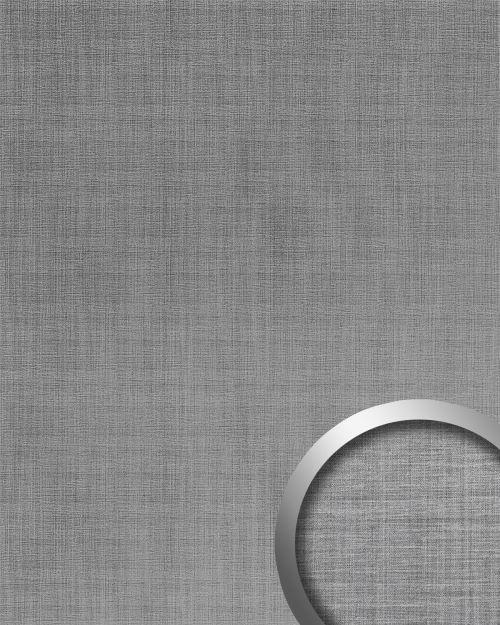 Panneau mural aspect métal WallFace 20203 Refined Metal Silver AR lisse Revêtement mural aspect métal brossé brillant auto-adhésif résistant à l'abrasion argent gris-argent 2,6 m2