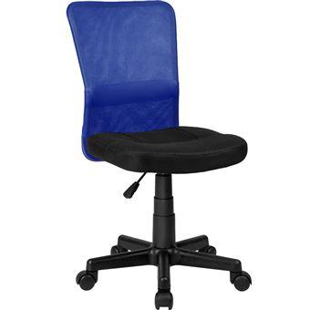 360° TECTAKE Réglable Rembourrée de Chaise Assise Bureau Hauteur Noir Bleu Pivotante 5A4R3qjL