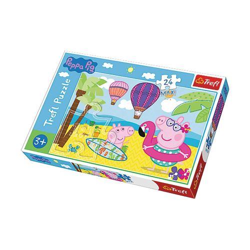 Puzzle les vacances de Peppa Pig - + 3 ans - 24 pièces Maxi