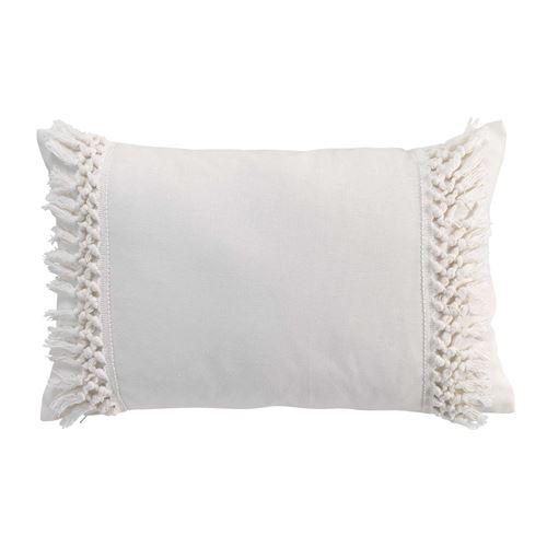 Coussin écru déhoussable 30x50 cm en coton Salma
