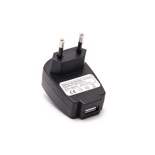 Chargeur adaptateur 5V 500mA USB Noir
