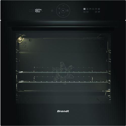 Brandt BXP6555B - Four - intégrable - niche - largeur : 56 cm - profondeur : 55 cm - hauteur : 58.5 cm - avec système auto-nettoyant - classe A+ - noir