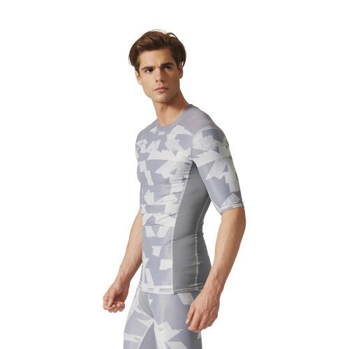 Adidas T shirt adidas Techfit Chill Print 3XL gris