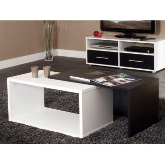 table basse rectangulaire gigogne en bois l70xp40xh35cm. Black Bedroom Furniture Sets. Home Design Ideas