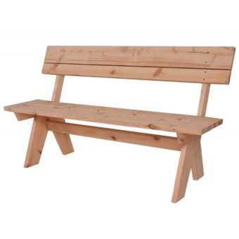 Banc de jardin aspect rustique bois massif 148cm MDJ04071 - Mobilier ...
