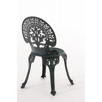 Mdj10061 Vert Chaise Bistrot De D'aluminium Vieilli Jardin En Fonte LqA3Rj45