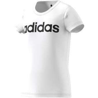 04576fa834f16 Adidas - T-shirt junior adidas Essentials Linear - 4 5 ans - blanc noir -  Hauts