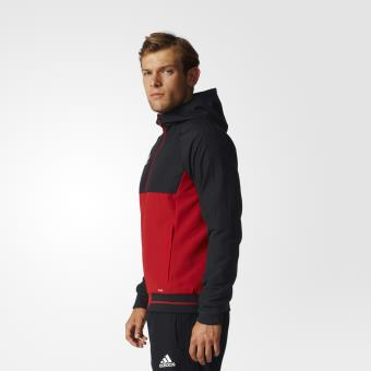 Adidas Veste de présentation adidas Tiro 17 S noirrouge foncéblanc