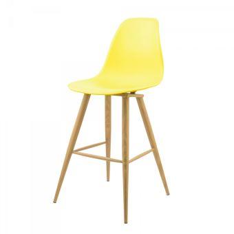chaise haute mac andrews avec pieds m tal effet bois scandi jaune achat prix fnac. Black Bedroom Furniture Sets. Home Design Ideas