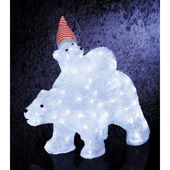 Ours Lumineux Noel Guirlande de noël lumineuse d'extérieur Maman et bébé ours 112 LED