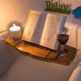 pont de baignoire plateau de bain en bois de bambou porte. Black Bedroom Furniture Sets. Home Design Ideas