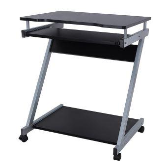 bureau informatique table informatique meuble de bureau pour ordinateur noir achat prix fnac