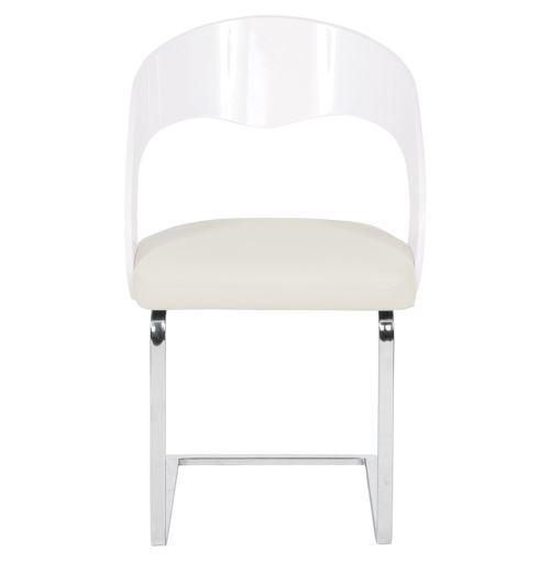 Chaise Moderne Lola Pour Salle à Manger Blanche Achat