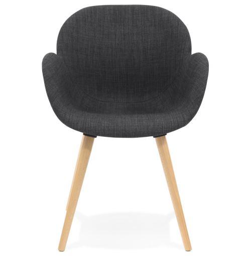tissu foncé en 'TAPIOCA' Chaise design gris scandinave EDH2IW9