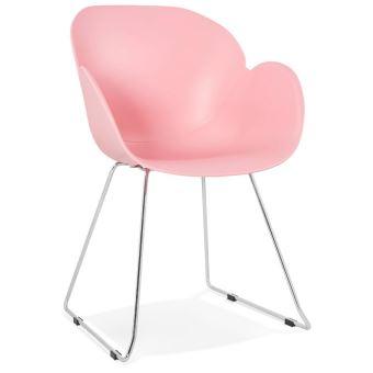 chaise design nego rose en matire plastique achat prix fnac - Chaise Design Plastique