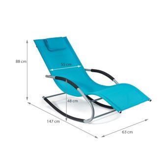 64€90 sur Transat à bascule BERGAMO fauteuil piscine jardin terrasse ...