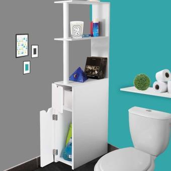 17 sur meuble wc tag re bois gain de place pour toilette 2 portes blanches accessoires. Black Bedroom Furniture Sets. Home Design Ideas