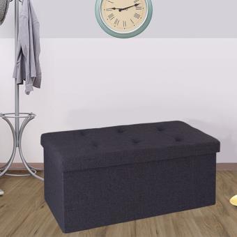 Banc coffre rangement tissu gris 76x38x38cm pliable - Accessoires ...