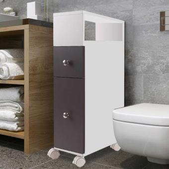 11 sur meuble rangement wc sur roulettes 2 tiroirs gris accessoires salles de bain et wc. Black Bedroom Furniture Sets. Home Design Ideas