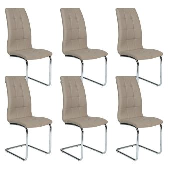 PrixFnac 6 Achatamp; De Chaises Lot Taupe Cally 4cR3j5ALqS