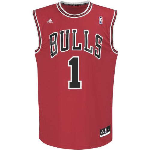 Adidas NBA Chicago Bulls #1 Derrick Rose Rouge 2XL Maillot