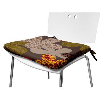 Coussin De Chaise 40x40 Cm MARGOT Chocolat