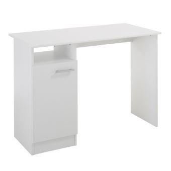 bureau en bois 1 porte 1 niche longueur 100 2 cm mix blanc achat prix fnac. Black Bedroom Furniture Sets. Home Design Ideas