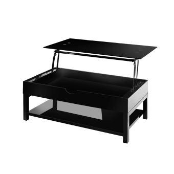 Table Basse Relevable Hype Noir Laqué   Achat U0026 Prix | Fnac