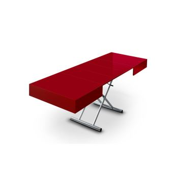 Table basse relevable extensible elevator rouge achat prix fnac - Table basse relevable rouge ...
