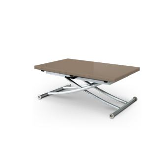 30c89b21049303 Table Basse Relevable Extensible First Taupe Laqué - Achat   prix   fnac