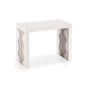 Table Console Extensible Chêne Clair 4 Rallonges/ Bois Mdf Lallana ...