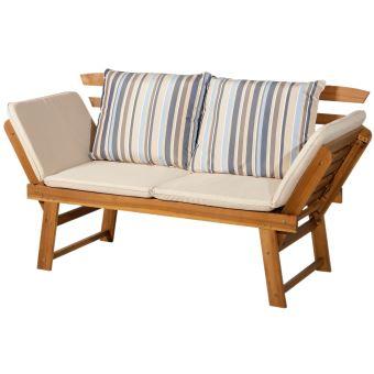 Canapé lit de jardin extensible 4 places grand confort ...