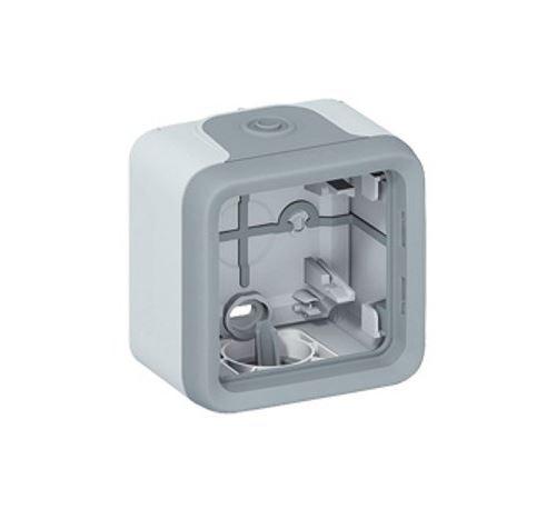 Boîtier à embouts Plexo IP55 - 1 poste pour repiquage facilité - Gris