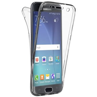 Coque pour Samsung Galaxy S5 - Housse Etui Gel TPU Silicone Intégrale Transparent Protection Full Silicone Souple Ultra Mince Fine Slim Leger Tactile ...