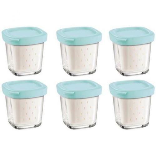 6 pots de yaourt pour Yaourtiere - SEB XF100501