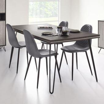 425 79 Sur Table A Manger Moderne Couleur Bois Gris Santori L