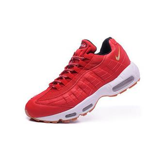 official shop wholesale great quality Homme Nike Air max 95 Baskets Chaussures de Sports Rouge ...