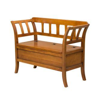 6 sur banc coffre d 39 entr e classique en bois achat prix fnac. Black Bedroom Furniture Sets. Home Design Ideas