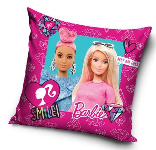 Barbie coussin filles 40 cm polyester rose