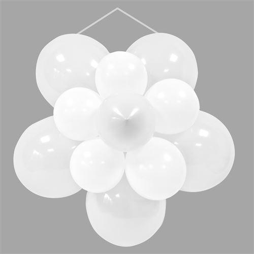 Lot de 132 ballons décoratifs rosace pour mariage Blanc - 64 cm